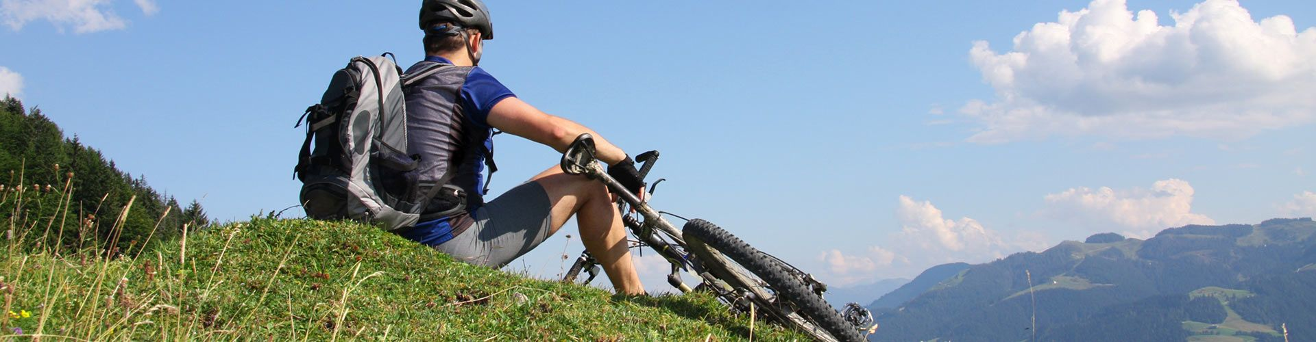 Mountainbiker am Berg